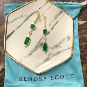 Kendra Scott emerald green Earrings